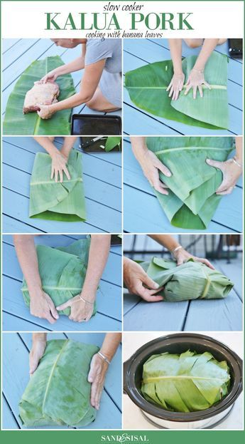 Cooking with Banana Leaves - Since I do not eat pork, I'd Like to try this with beef --- sounds like a super idea ---