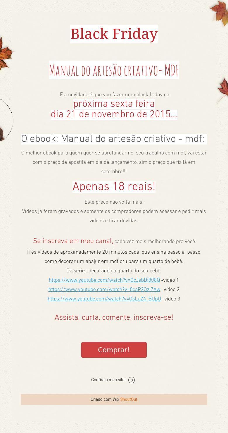 Black Friday    Manual do artesão criativo- MDF