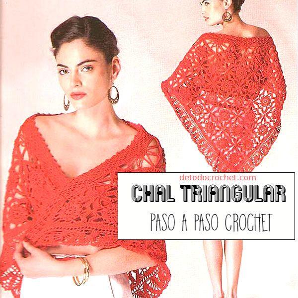 Todo crochet | Patrones de chal, Chales tejidos y Chal