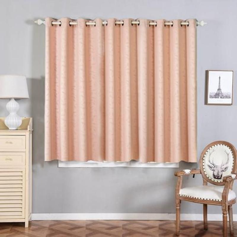 Blush Blackout Curtains Pack Of 2 Embossed Curtains 52 X 64 Inch Length Curtains Designer Blackout Curtains Clearance Sale Grommet Window Treatments Blush Blackout Curtains Living Room Drapes