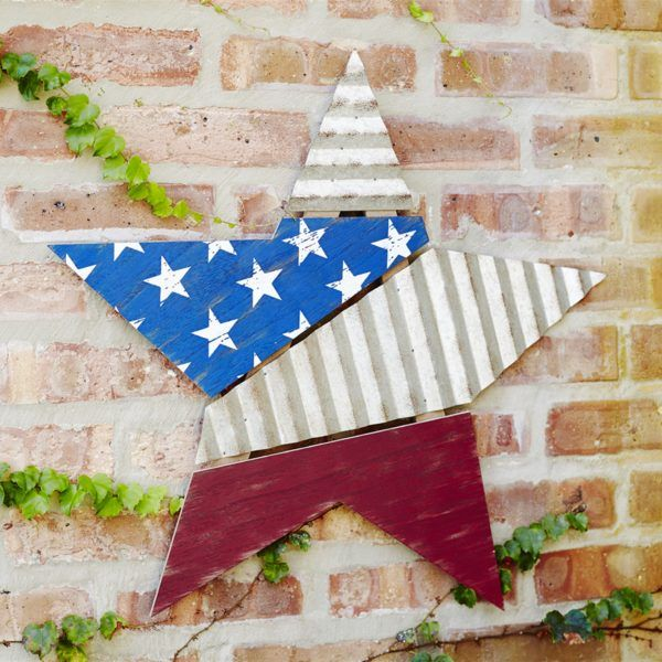 4th Of July Decoration Us Flag Star Wall Plaque 4th Of