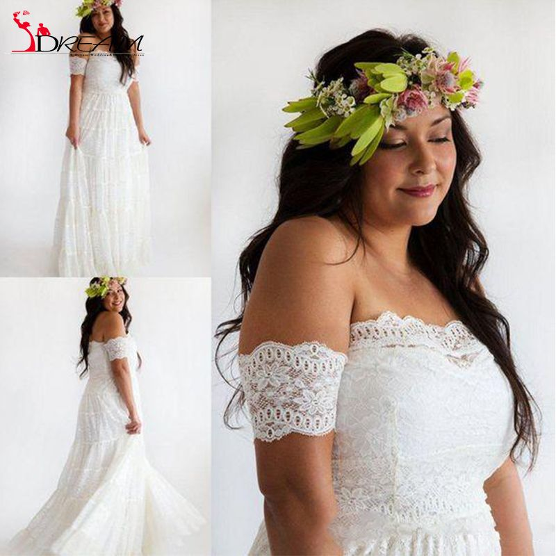 Find More Wedding Dresses Information About 2016 Romantic Plus Size Bohemian Sexy Off The