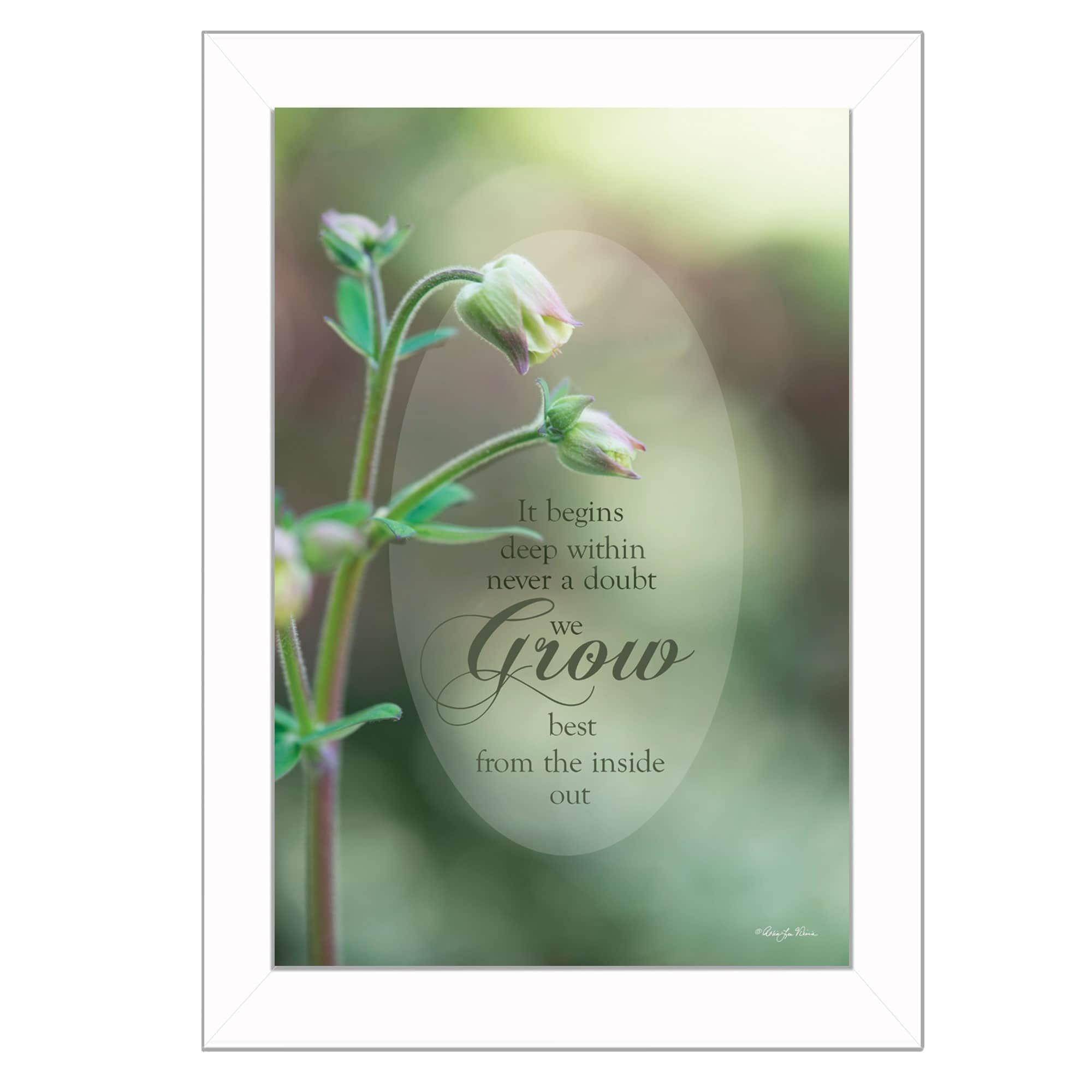 """Trendy Decor 4U """"Growth"""" By Robin-Lee Vieira, Printed Wall Art, Ready To Hang Framed Poster, Frame"""