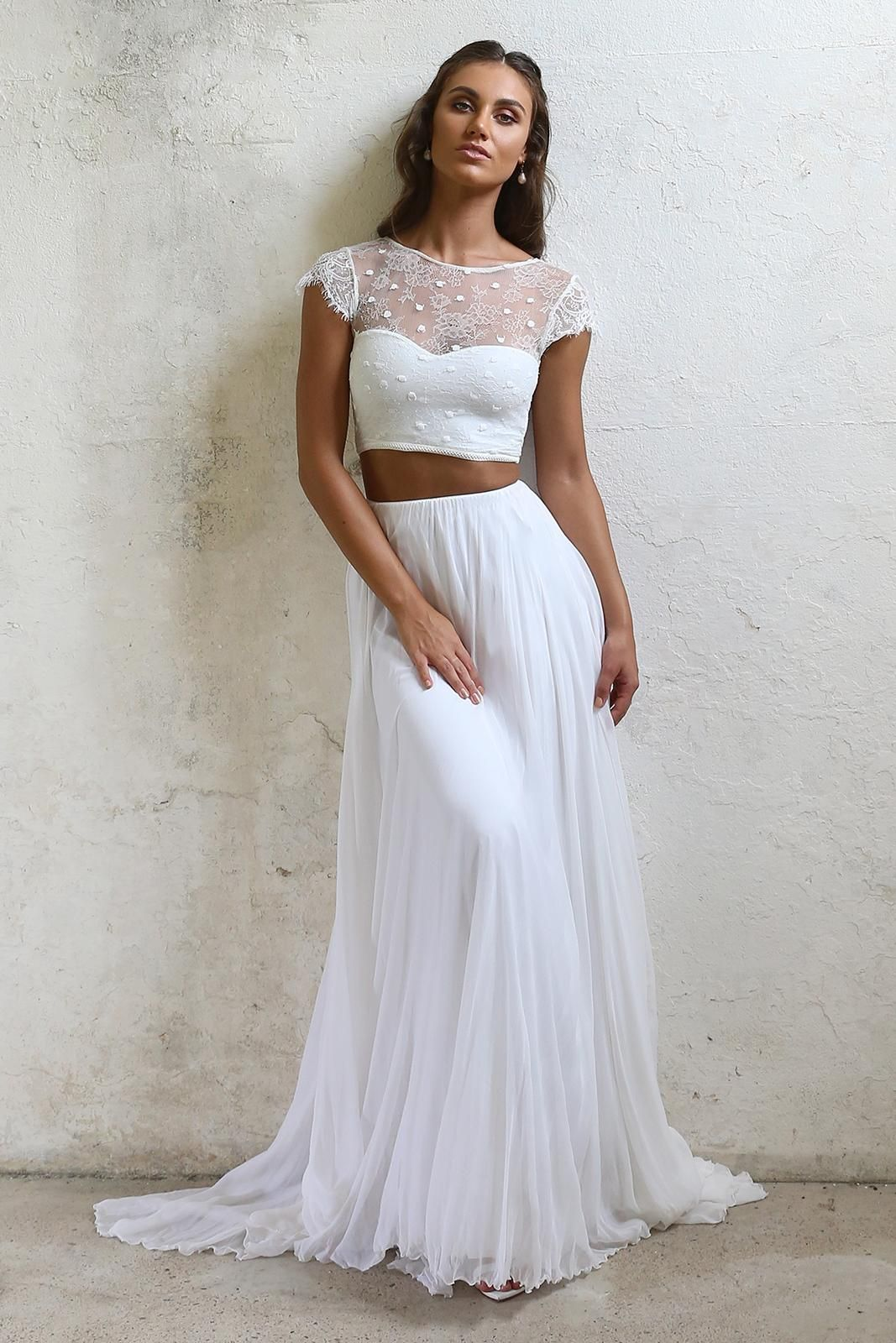 Sheer top wedding dress  Yeo  Grace Loves Lace  Wedding Things  Pinterest  Wedding