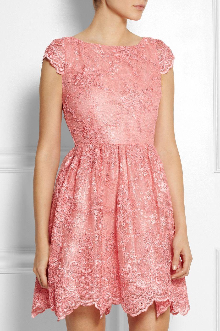 Alice + Olivia | Zenden embroidered lace mini dress | NET-A-PORTER ...