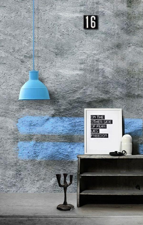 wandfarbe beton farbe wände streichen betonwände Pinterest - küche tapezieren oder streichen