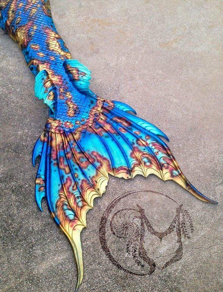 Real Mermaid Tail Pin by Haley Edwards o...