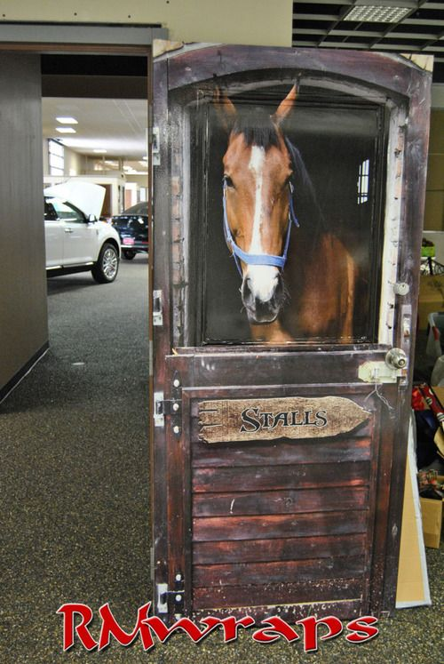 Horse Stall door wrap. Click on the image to order one. Rm wraps Door  sticker 286765e35