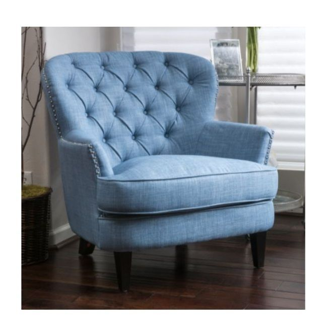 Accent Club Chair With Arms For Living Room Bedroom Tufted Upholstered Furniture #Armchair #Contemporary