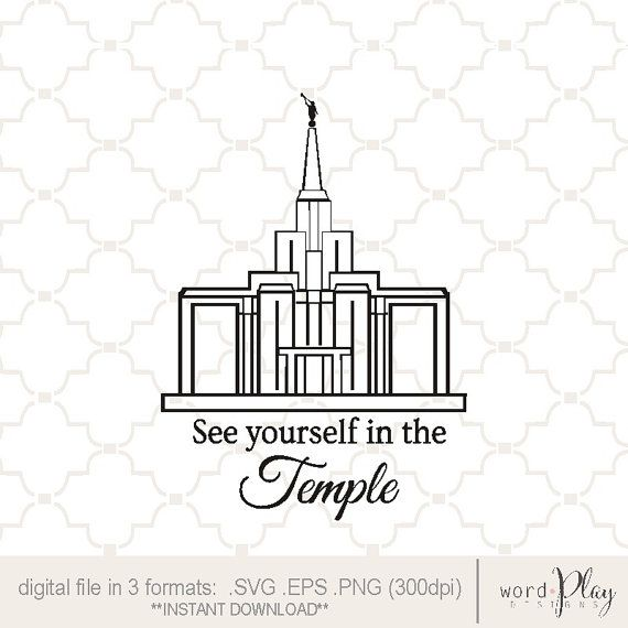 LDS small temple graphic / see yourself in the temple / digital ...