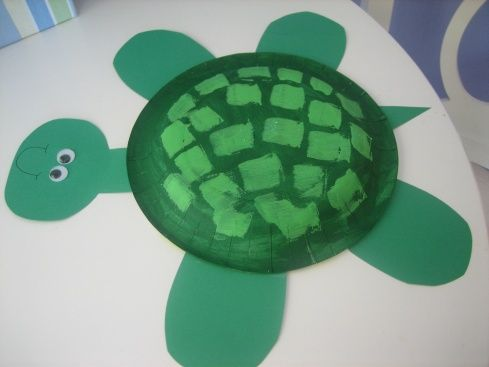 Summer/Spring Living Things Unit Paper Plate Turtle & Summer Craft - Paper Plate Turtle | Turtle Craft and Summer crafts