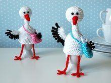 Photo of Crochet stork // crochet egg warmer // DIY-PDF