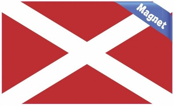 5in X 3in Inverted Alabama Flag State Magnet Vehicle Magnets Sticker Flag Vinyl Bumper Stickers Flag