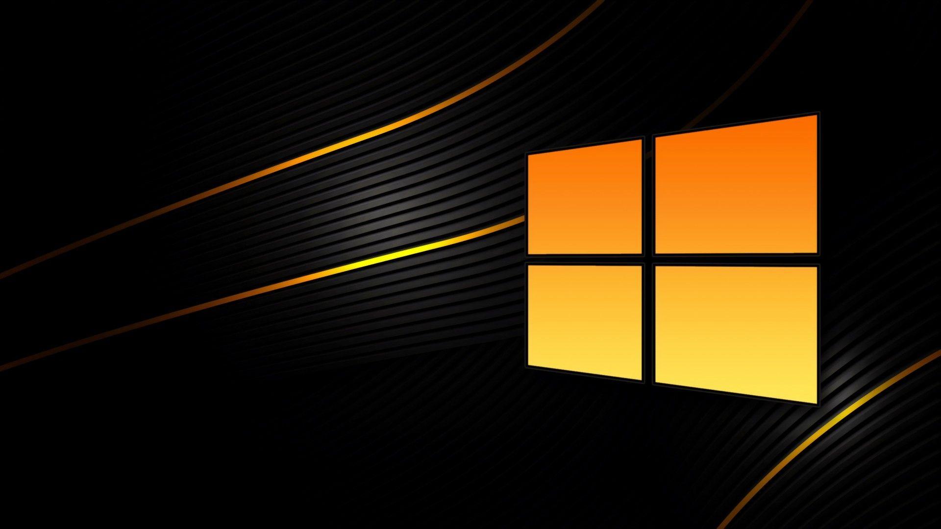 Windows 10 Black1920x1080 Wallpaper Windows 10 Orange