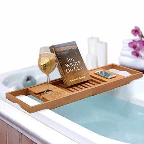 Bathforia Bathtub Caddy: Bamboo Bathtub Caddy Puts The Relaxation ...