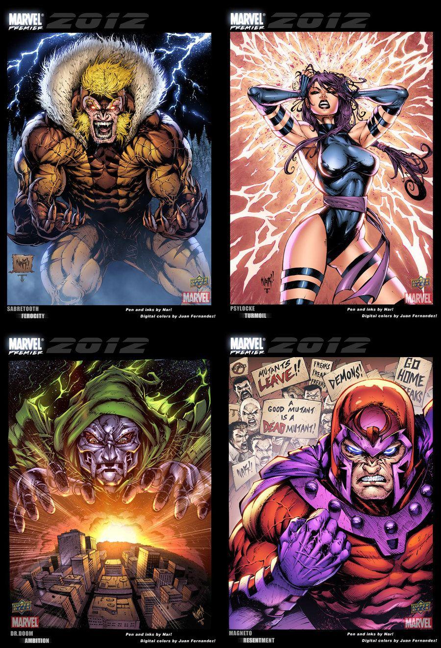 Marvel trading cards set 01 by juan7fernandez on