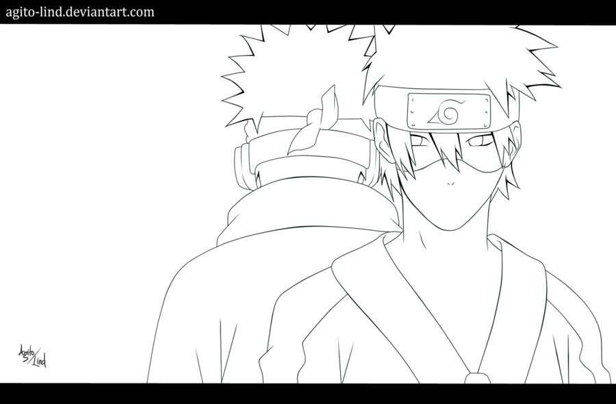obito vs kakashi coloring pages