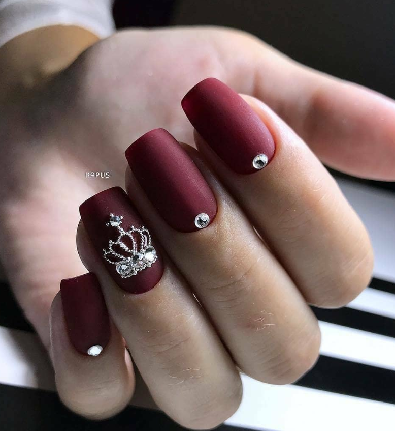 50 Cute Short Acrylic Square Nails Design And Nail Color Ideas For Summer Nails Page 4 Of 51 Latest Fashion Trends For Woman Burgundy Nails Christmas Nails Acrylic Chic Nails