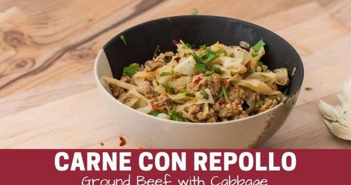 Salteado de Carne con repollo – Receta Keto / Ground Beef and Cabbage Stir Fry | Videococina.eu #cabbagestirfry