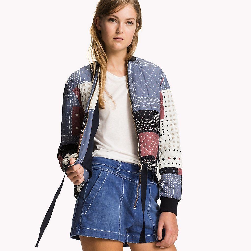 Bandana Print Bomber Jacket Tommy Hilfiger Official Website Tommy Hilfiger Outfit Women Wear Fashion [ 1023 x 1023 Pixel ]