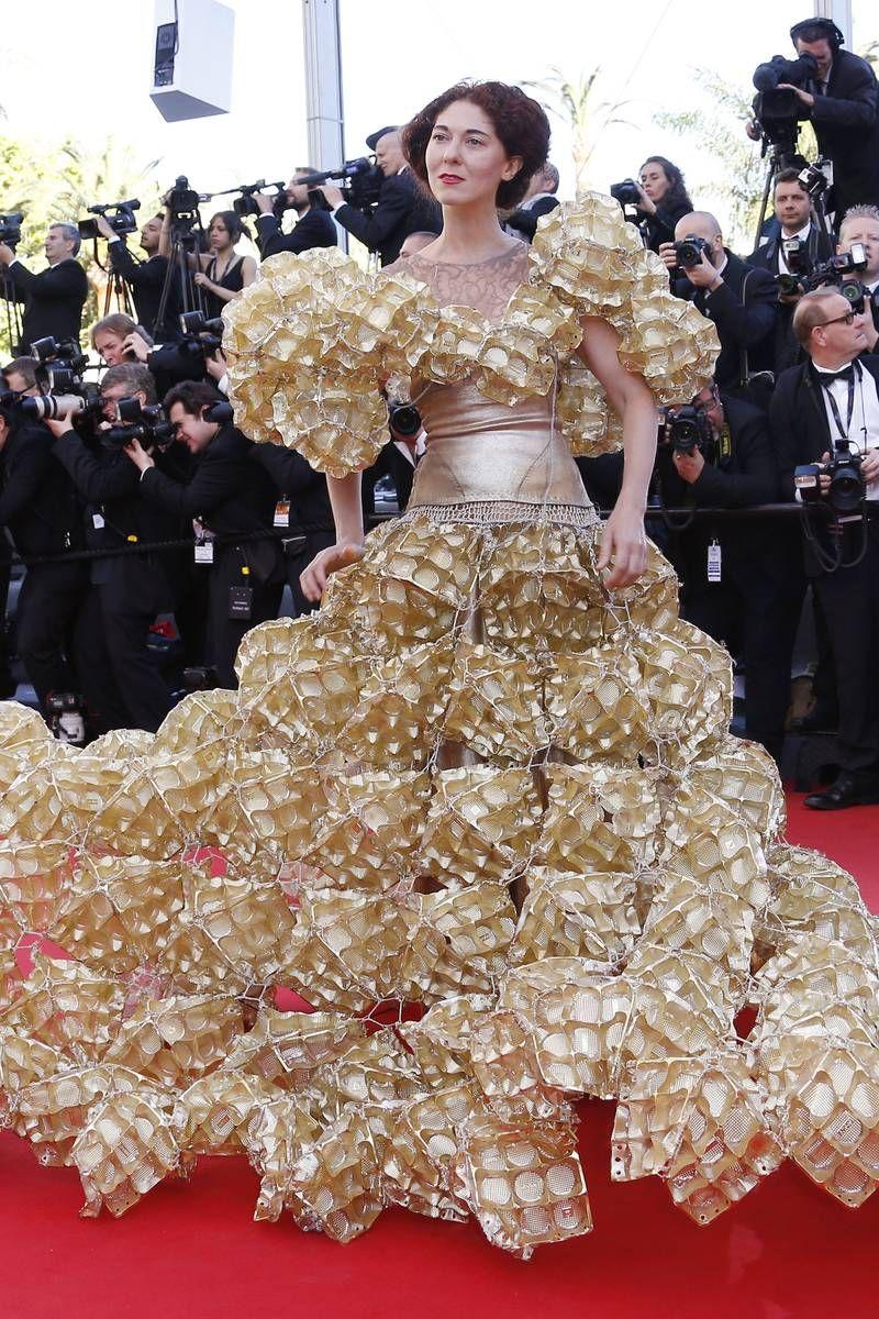 Cannes day 3 marion cotillard eva longoria and an for Eva my lady wedding dress