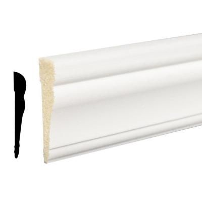 Ip Moulding 5 8 In X 2 1 4 In X 84 In Polystyrene Crystal White Casing 94420700032 The Home Depot White Molding Easy Weekend Projects Crystals