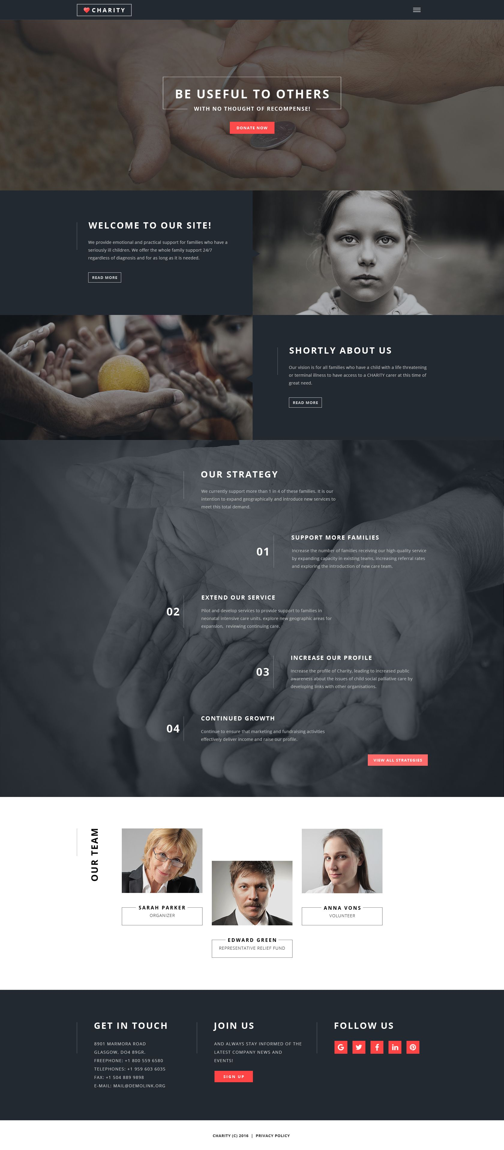 Charity Foundation Multipage Html5 Template Nonprofit Website Design Nonprofit Website Best Website Templates