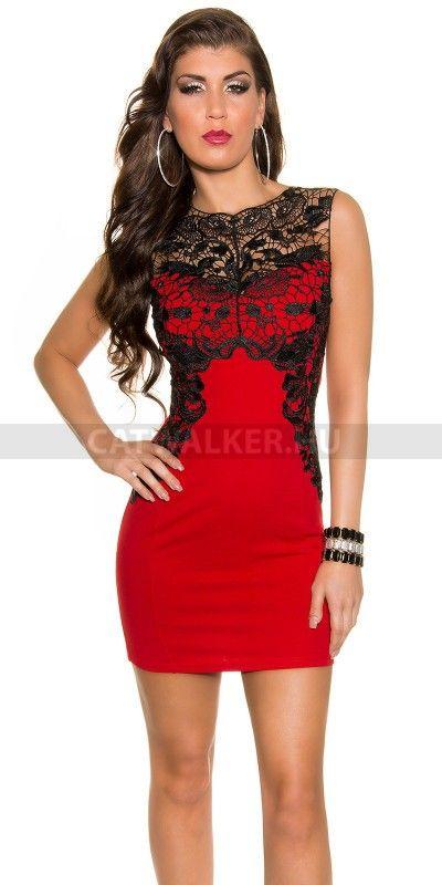 ee6068f1b9 Alkalmi ruha K18800 - piros   Piros alkalmi ruhák   Dresses, Dress ...