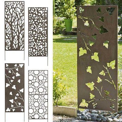 Panneau déco en métal à planter dans le sol 4 modèles au choix a voir ici http fr jardins animes com panneau decoratif metal 06m 15m p 2373 html