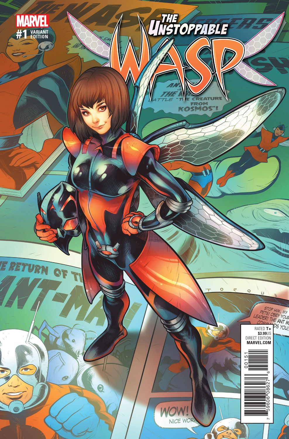 The Unstoppable Wasp #1 variant cover by Elizabeth Torque *