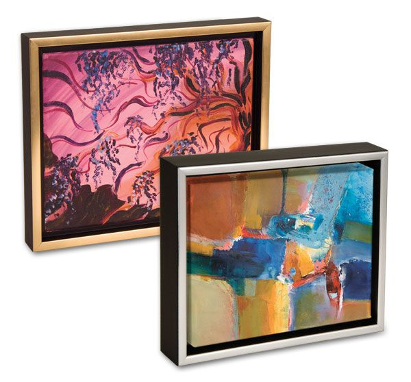 These Floating Frames Create The Floating Canvas Effect Canvas Frame Discount Art Supplies Floater Frames
