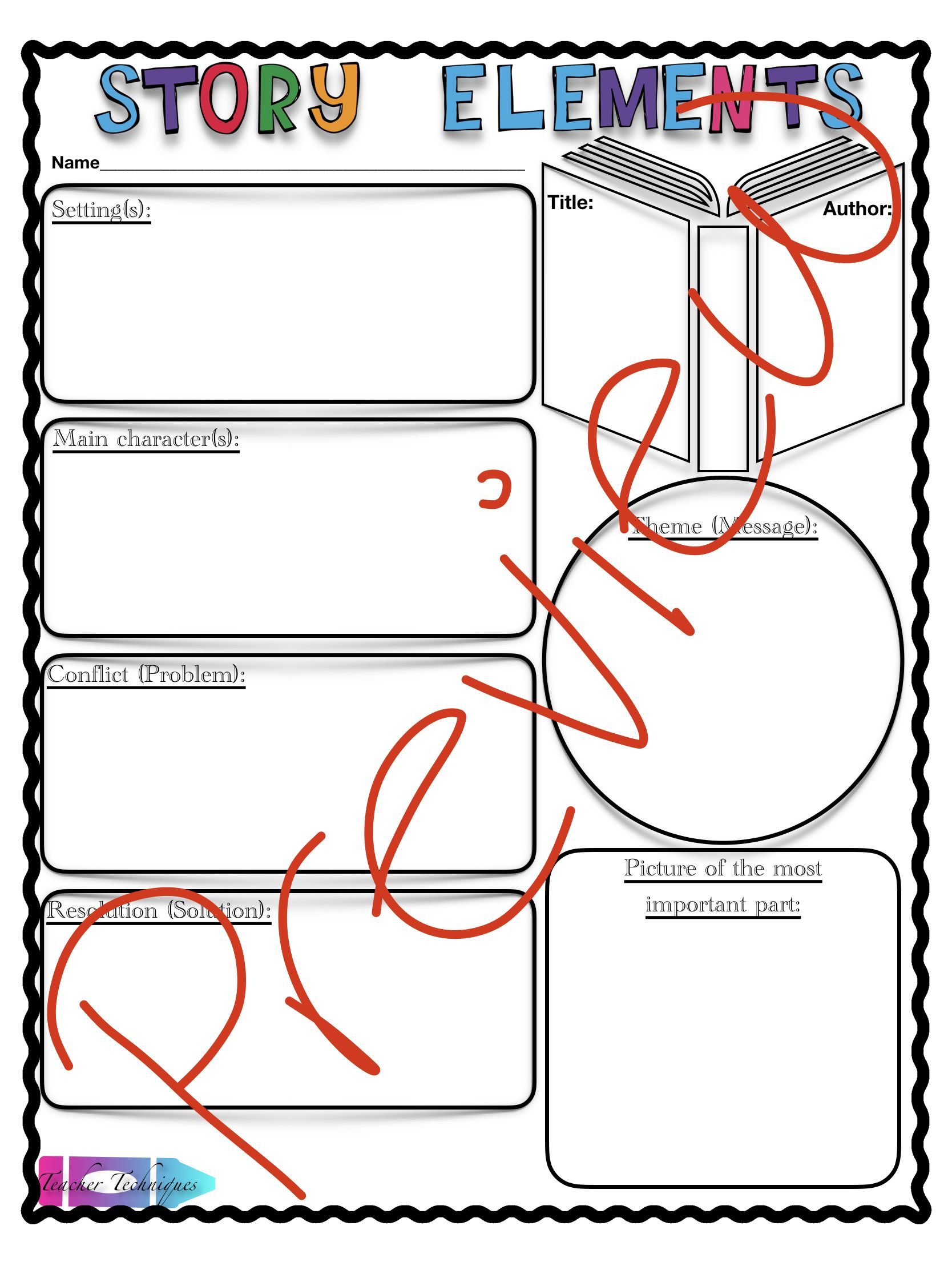 Story Element Definitions And Graphic Organizer Updated