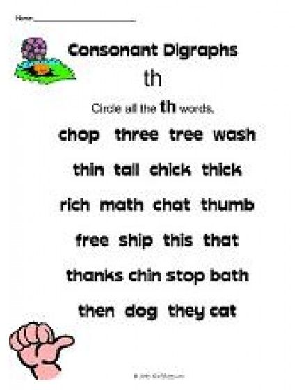 Th Sound Reading With Kids Pinterest Consonant Digraphs