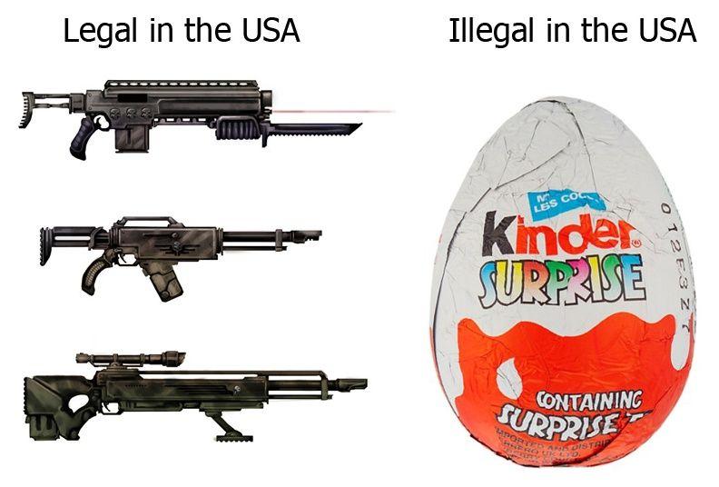 I want Kinder Surprise Eggs, I don't want guns
