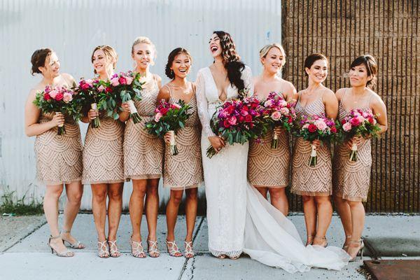 Short Metallic Bridesmaid Dresses Photo By Pat Furey Http Ruffledblog
