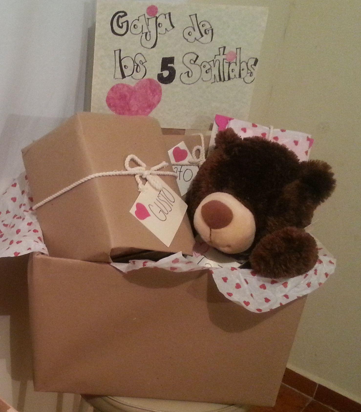 Sorprese Per Un Compleanno caja de los 5 sentidos.. un buen detalle para demostrar love