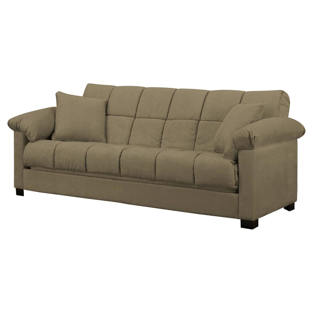 Maurice Pillow Top Arm Convert A Couch Mocha Handy Living
