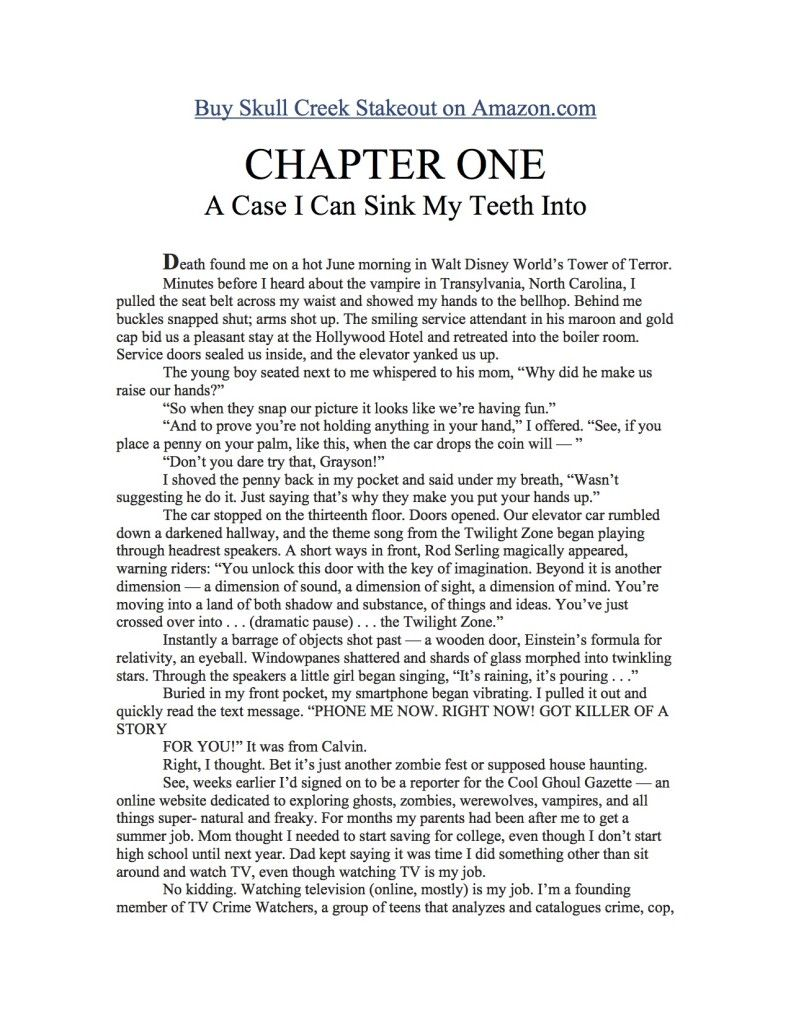Chapter 1 of Skull Creek Stakeout is free!