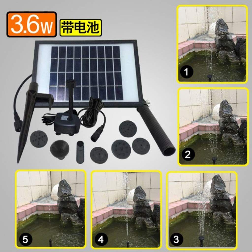 Homyl 3 6W Solar Panel LED Fountain Garden Pool Pond Water