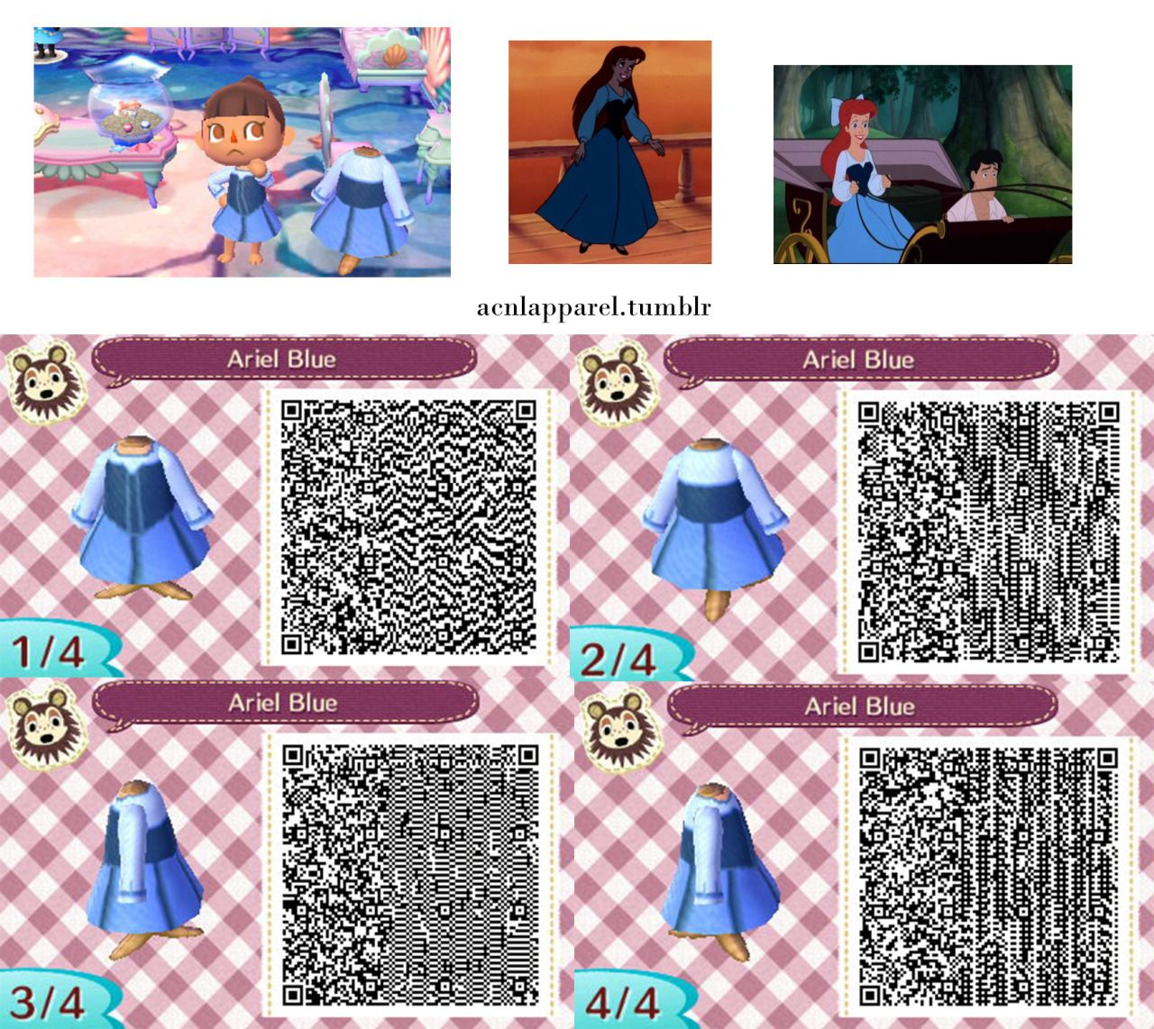 Request Ariel's dresses from The Little Mermaid Sorry for
