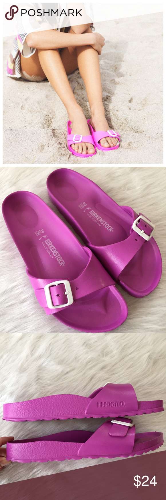 94079392409 Birkenstock Madrid Eva pink sandals Adorable pink Birks in like new  condition! Sz 39