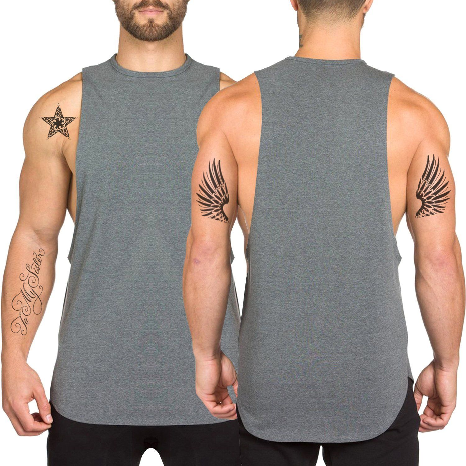 2758a2fe662b3 TEBOOL Men s Fitted Muscle Cut Workout Tank Tops Gym Bodybuilding T-shirts    You can get additional details at the image link.