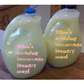 Made this twice now and I like it - a lot easier than lugging laundry detergent home from the store.