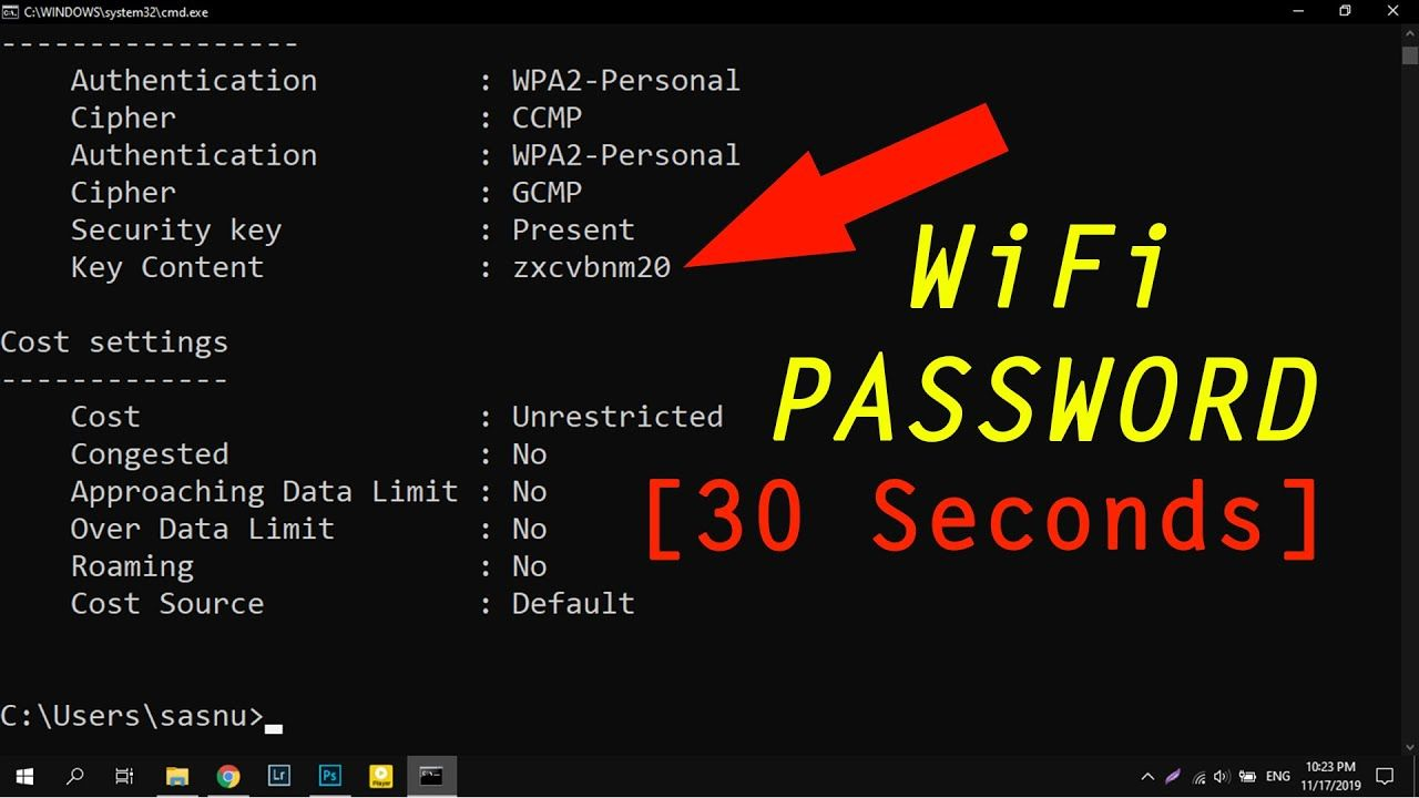 Find Anyone S Wifi Password Using Cmd In 30 Seconds Wifi