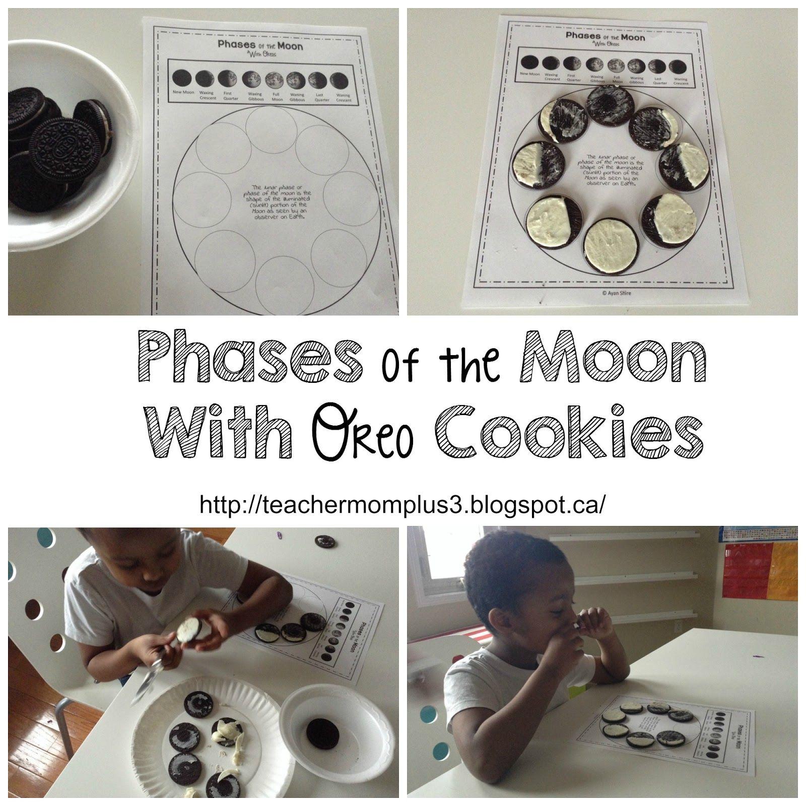 Teachermomplus3 Phases Of The Moon With Oreos Free