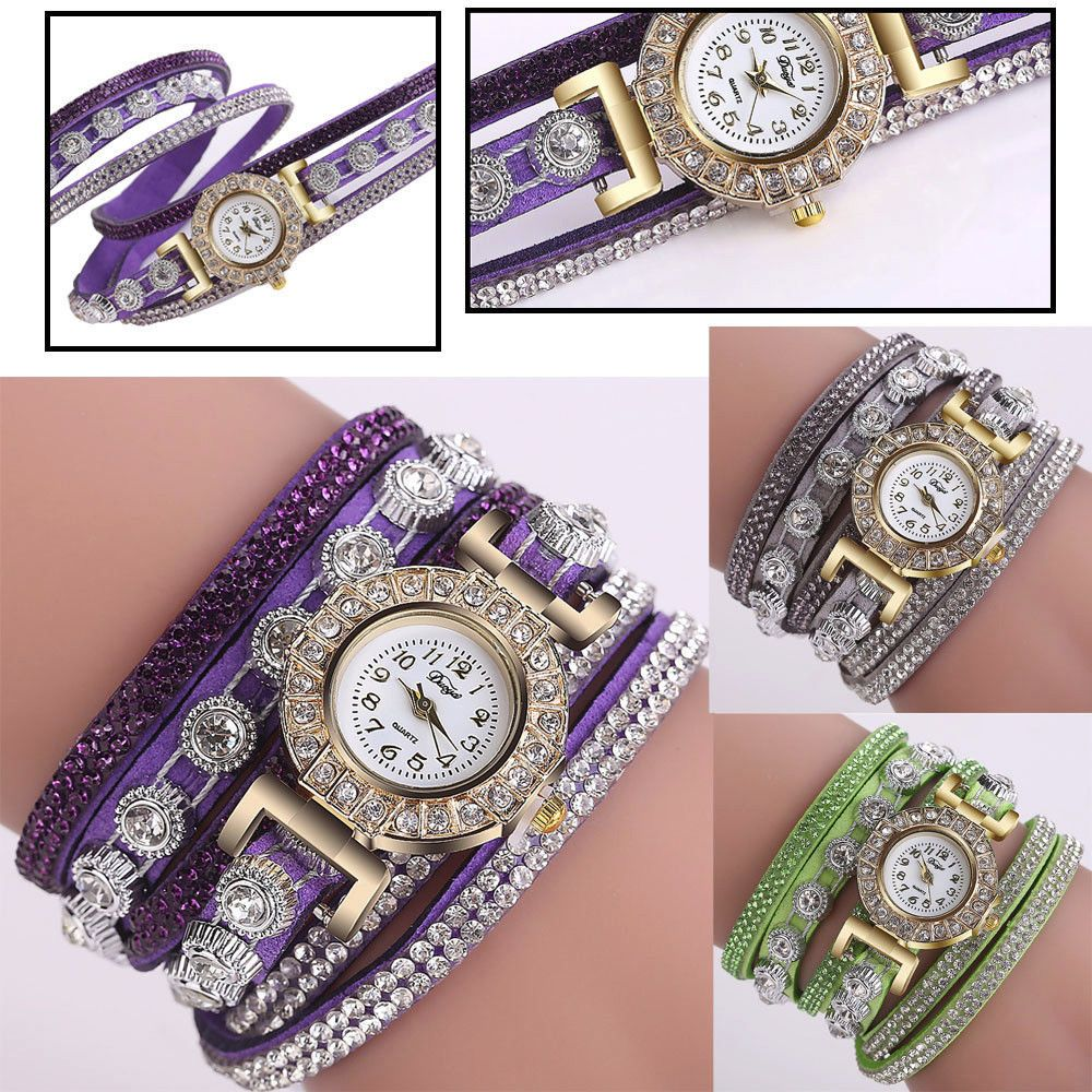 New women fashion casual analog quartz women rhinestone watch
