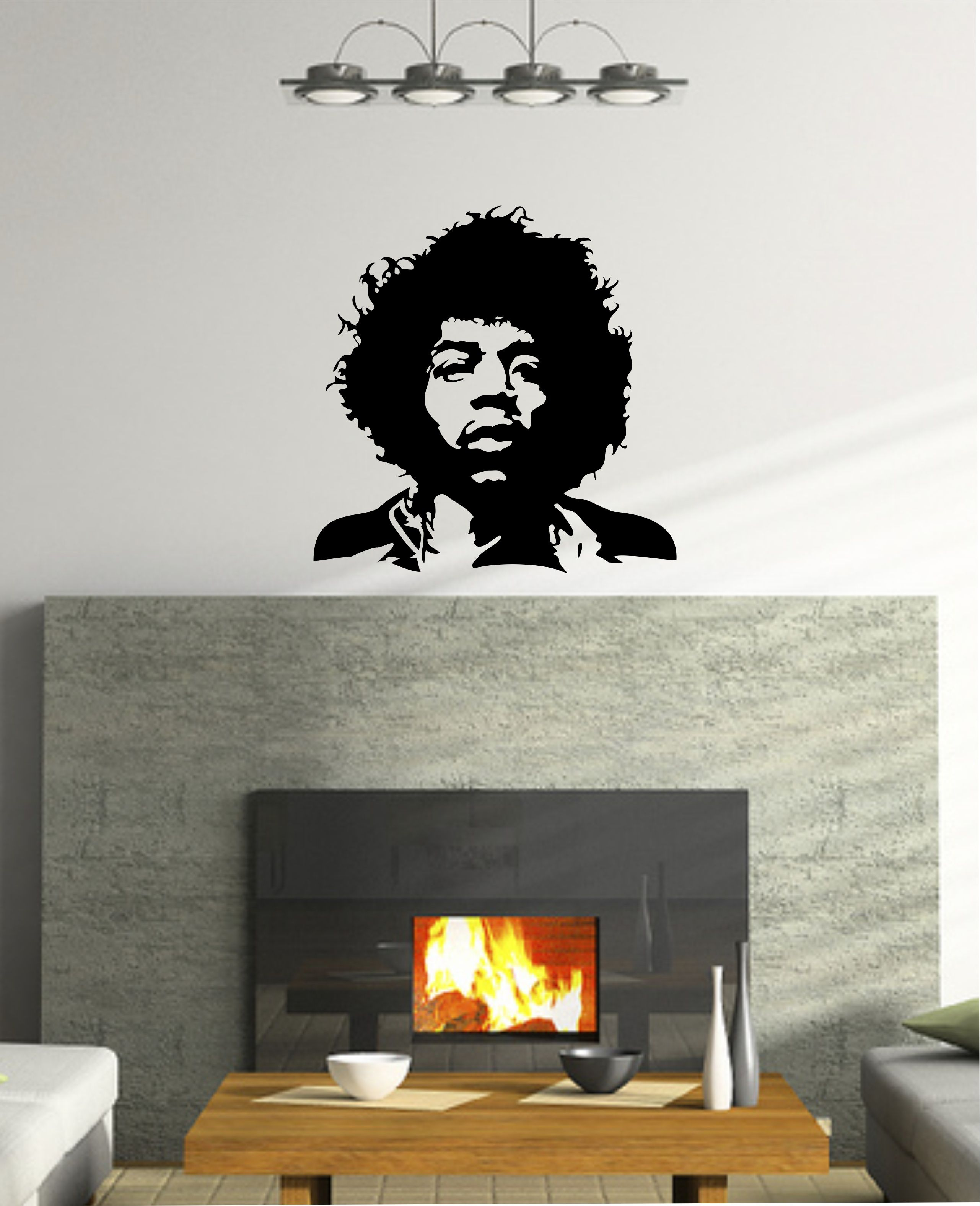 Jimi hendrix vinyl wall decal sticker large removable vinyl jimi hendrix vinyl wall decal sticker large removable vinyl mural art decor from wallcrafters on amipublicfo Image collections
