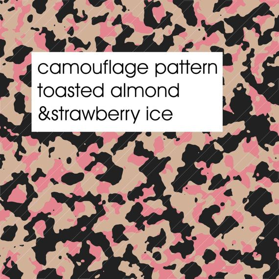 Camouflage PATTERN PANTONE COLORS Spring 2015  Toasted Almond & Strawberry Ice by Fashiontelligent High resolution Digital Fabric Camo