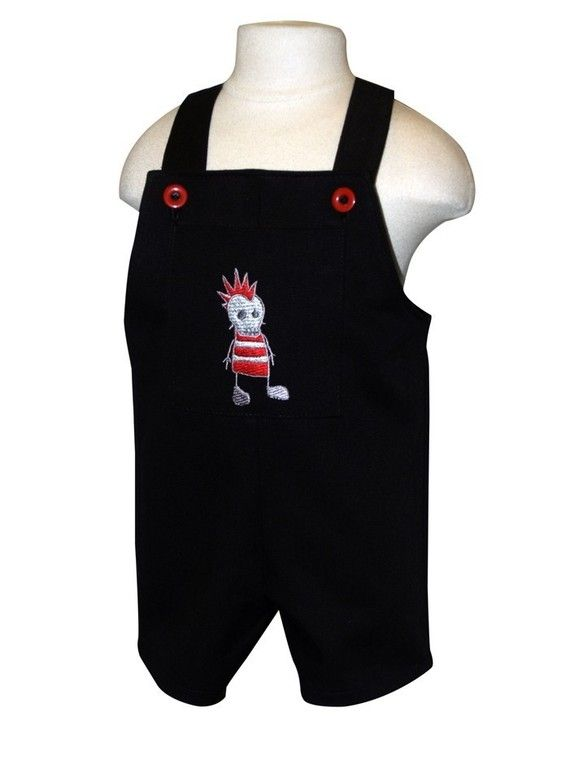 259240511 Goth zombie punk baby boy overall