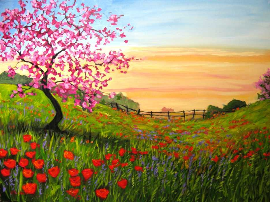 Acrylic Painting Easy Landscape Paintings Landscape Paintings Acrylic Simple Acrylic Paintings